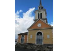 Parvis de l'église du bourg Trois-Îlets