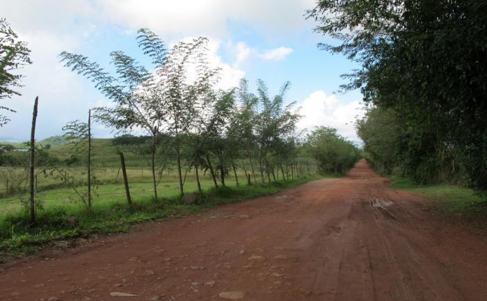 Route d'accès au village de la Poterie